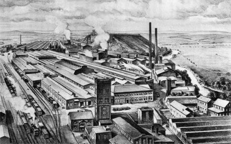 Din vechea fabrica Buderus din Lollar, Turnul de apa exista (reconditionat) si azi (1937)