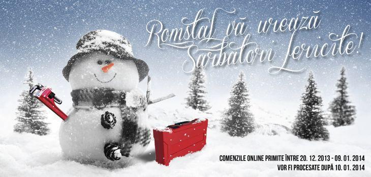 Program de lucru magazine Romstal sarbatori de iarna