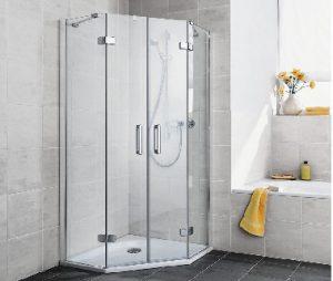 cabină de duș pentagonală