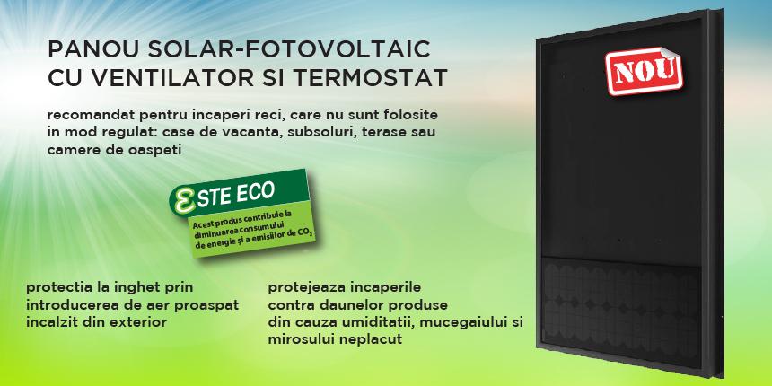 panou fotovoltaic cu ventilator
