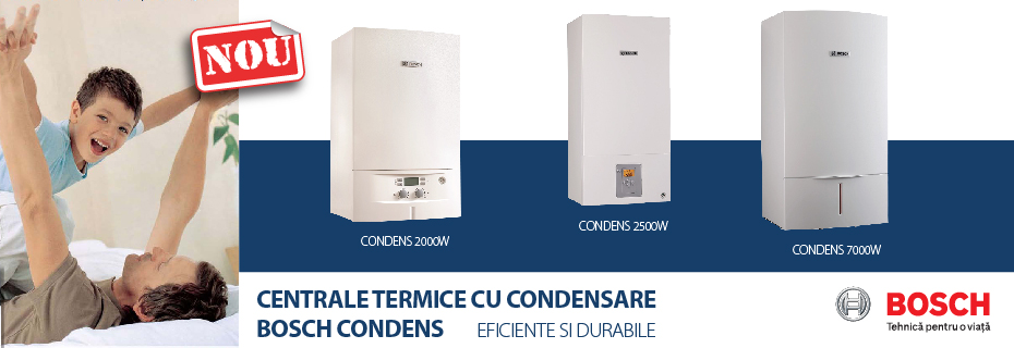 Centrale termice cu condensatie Bosch condens