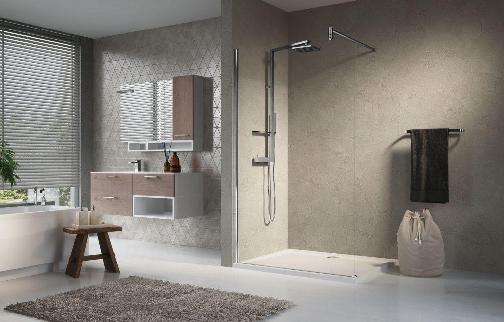 peretele de duș Lunes H de la Novellini