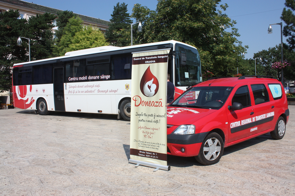 Caravana mobila donare sange