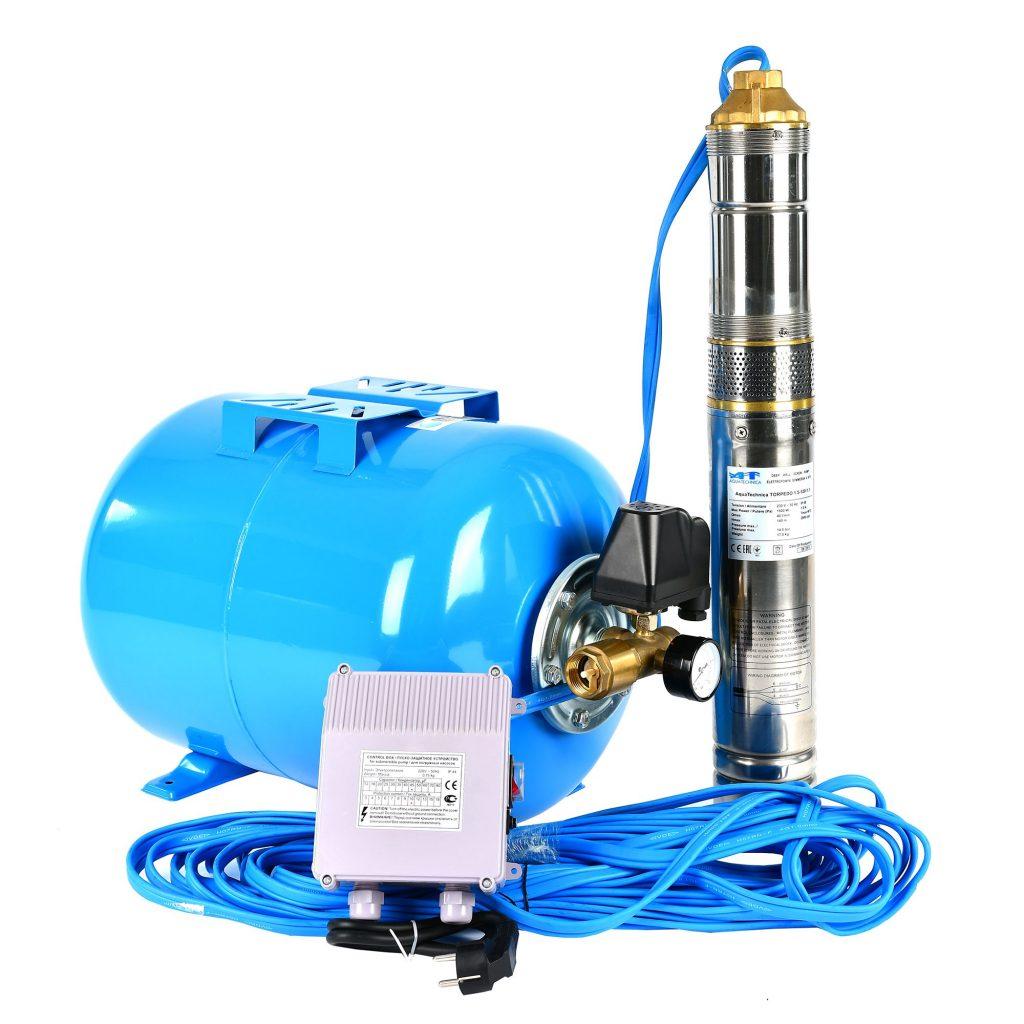 Montare hidrofor cu pompa submersibila