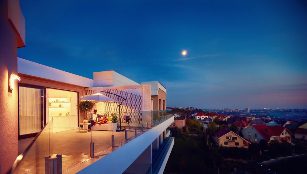Balcon situat in prelungirea livingului
