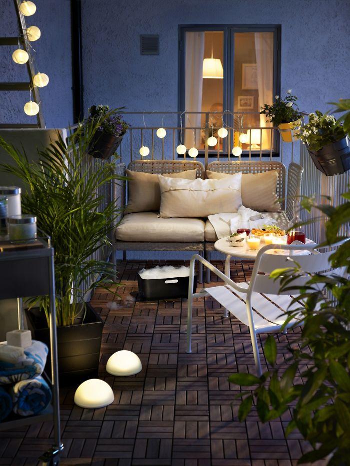 Amenajarea balconului - Iluminare moderna