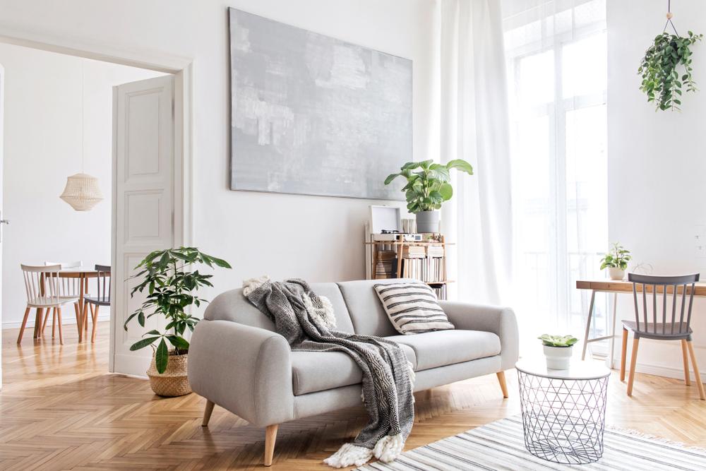 amenajare living in stil scandinav