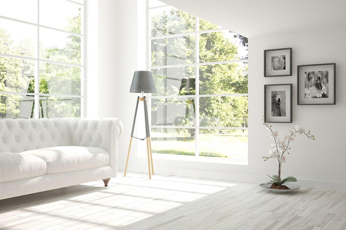 Amenajare living in stil minimalist