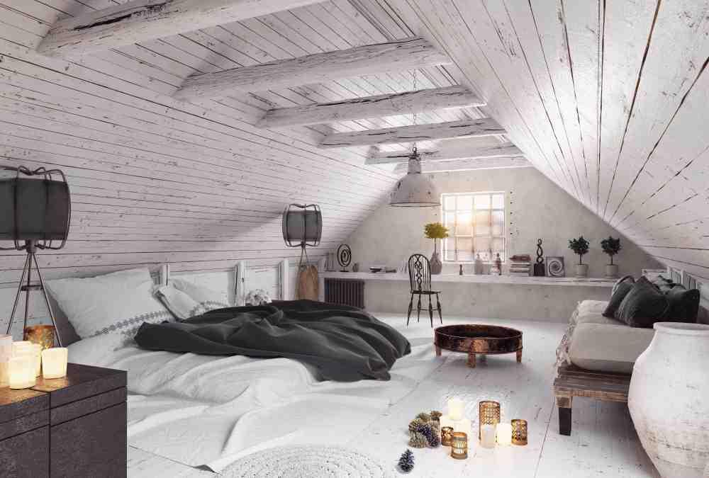 Idei de amenajare dormitor in mansarda