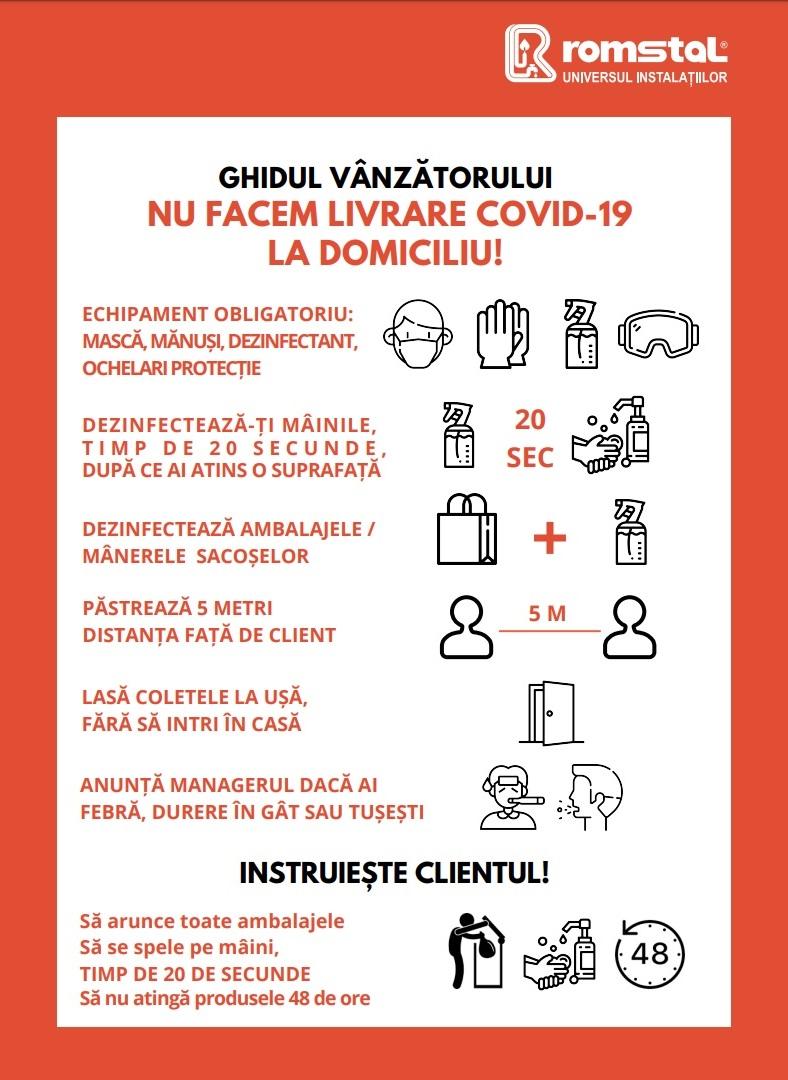Măsuri de precauție Covid-19