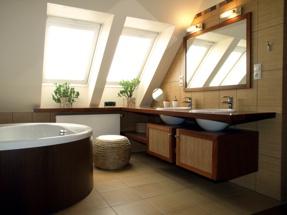 amenajare baie in mansarda