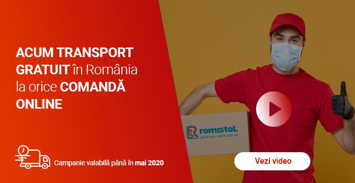 Transport gratuit pentru comenzi online