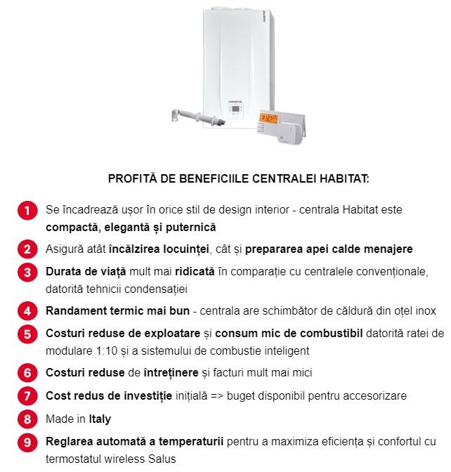 Beneficii centrala Habitat
